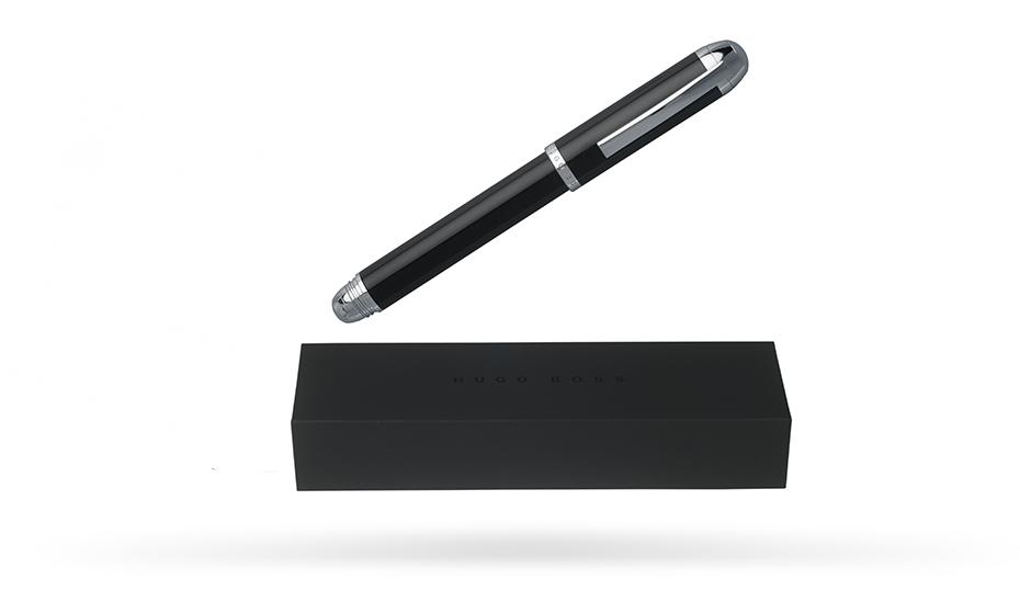 Перьевая ручка Hugo Boss Summit, латунь, черный лак  HSF6722