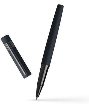 Чернильная ручка Hugo Boss New Loop Dark Blue, матовый металл, т-синий  HSG6335N
