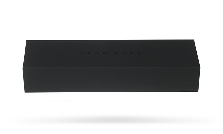 Шариковая ручка Hugo Boss Pure Leather, кожа, черный, темный хром  HSL6044A