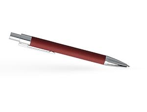 Шариковая ручка Hugo Boss Saffiano Red, лак, красный, хром  HSP6954P