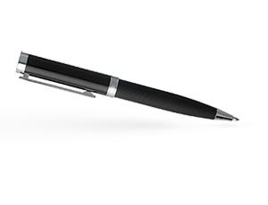 Шариковая ручка Hugo Boss Column Stripes, черный лак, хром  HSV6514