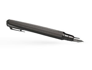 Перьевая ручка Hugo Boss Pure Mate Dark Chrome, латунь, матовый темный хром  HSY6032