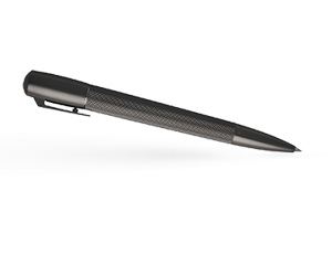 Шариковая ручка Hugo Boss Pure Mate Dark Chrome, латунь, матовый темный хром  HSY6034