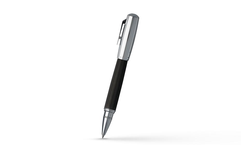 Чернильная ручка Hugo Boss Pure Black, латунь, черный лак, хром  HSY6835