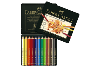 Набор карандашей Graf von Faber-Castell 24 штуки, металлическая банка  110024