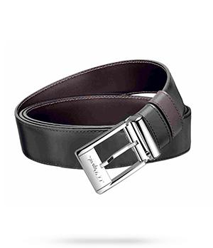 Ремень S.T. Dupont S.T. Dupont, прямоугольная пряжка, черный лак, кож  9560120
