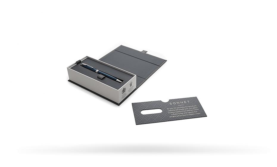 Шариковая ручка Parker Соннет, нержавеющая сталь, синий лак, палладий  1945365 351179453651