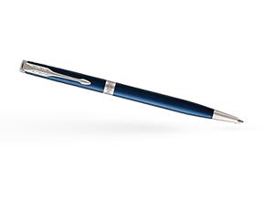 Шариковая ручка Parker Соннет, нержавеющая сталь, синий лак, палладий  1945365