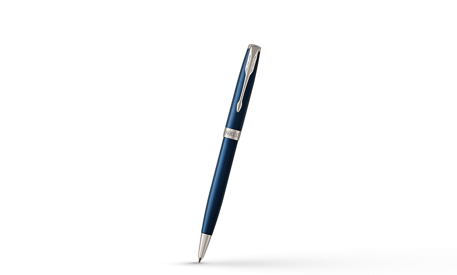 Шариковая ручка Parker Соннет нержавеющая сталь, синий лак, палладий  1931536 1931536 351179315362