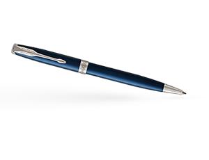 Шариковая ручка Parker Соннет нержавеющая сталь, синий лак, палладий  1931536