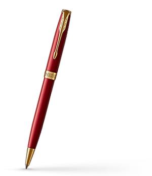 Шариковая ручка Parker Sonnet 2016, красный лак, латунь, нержавеющая стал  1931476