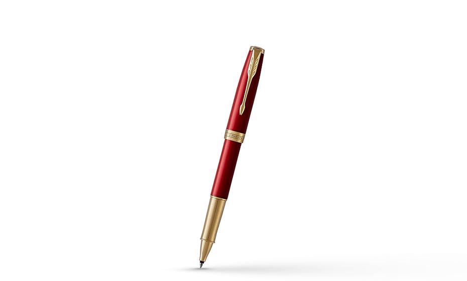 Чернильная ручка Parker Соннет, красный лак, латунь, нержавеющая сталь, по  1948085