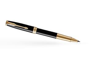 Чернильная ручка Parker Соннет, черный глянцевый лак, латунь, нержавеющая  1948080