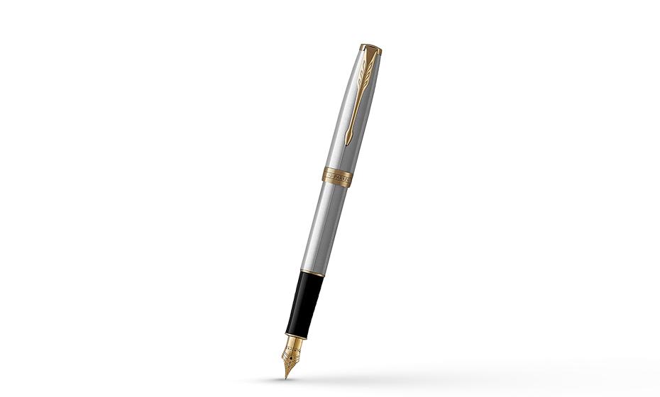 Перьевая ручка Parker Соннет, латунь, нержавеющая сталь, позолота  1931504