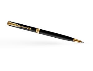 Шариковая ручка Parker Соннет, черный матовый лак, латунь, нержавеющая ст  1931520