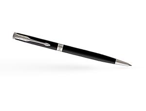 Шариковая ручка Parker Соннет, черный матовый лак, латунь, нержавеющая ст  1931525