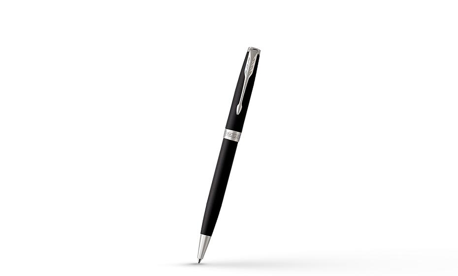 Шариковая ручка Parker Соннет, черный матовый лак, латунь, нержавеющая ст  1931524 351179315249