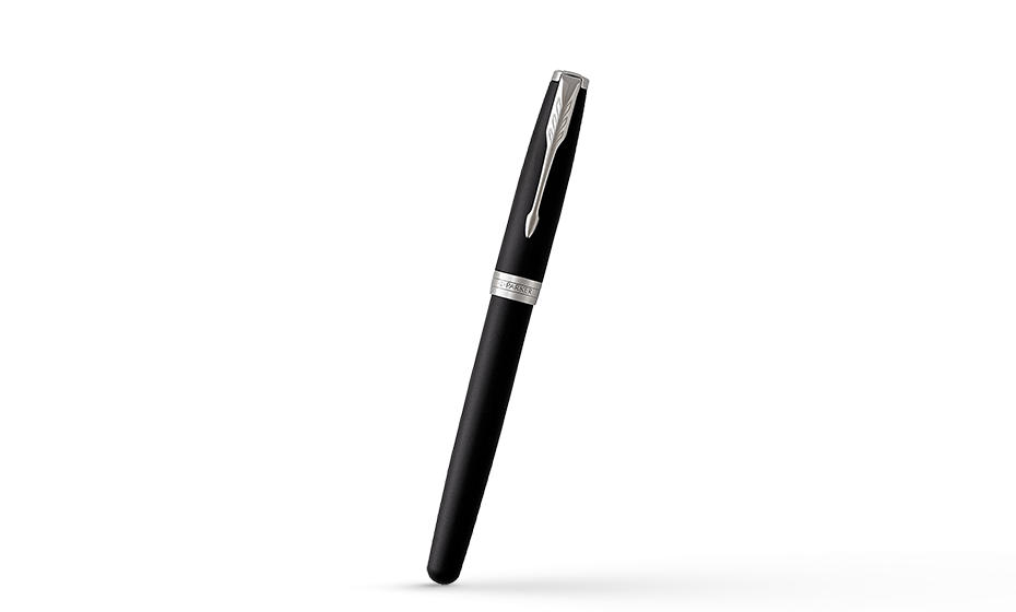 Перьевая ручка Parker Соннет, черный матовый лак, латунь, нержавеющая ст  1931521 351179315218