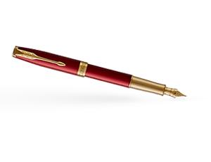 Перьевая ручка Parker Паркер Sonnet Laque Red, красный глянцевый лак, ла  1931478