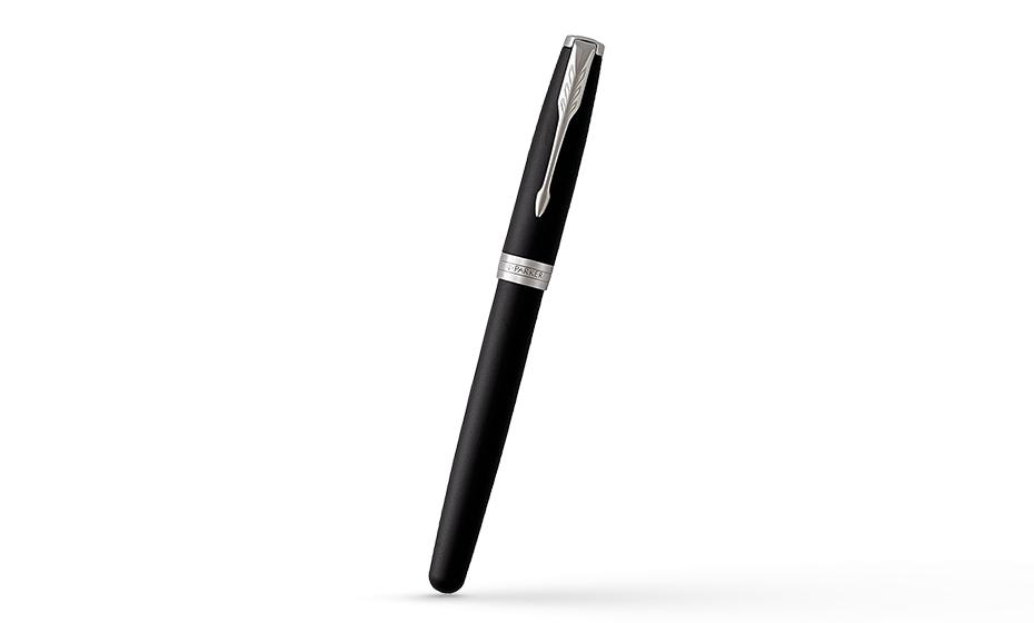Чернильная ручка Parker Паркер Sonnet Laque Black, черный глянцевый лак, л  1948081