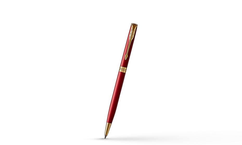 Шариковая ручка Parker Parker Sonnet Slim Laque Ruby Red, красный глянцев  1931477 351179314778
