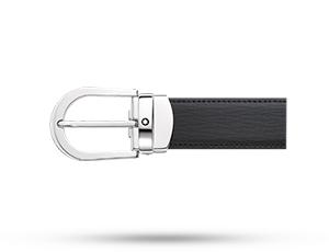 Ремень Montblanc Montblanc,прямоугольная стальная пряжка, черный  114416