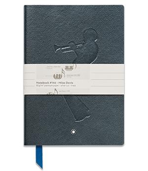 Блокнот Montblanc Fine Stationery, кожа с тиснением под сафьян, голу  114966