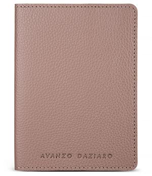 Обложка для паспорта Avanzo Daziaro GRAIN, кожа, серо-бежево-красный  AD-018-101954'