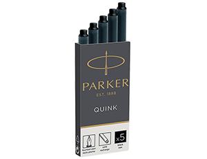 Картриджи Parker Parker, для перьевых ручек, черные  1950382