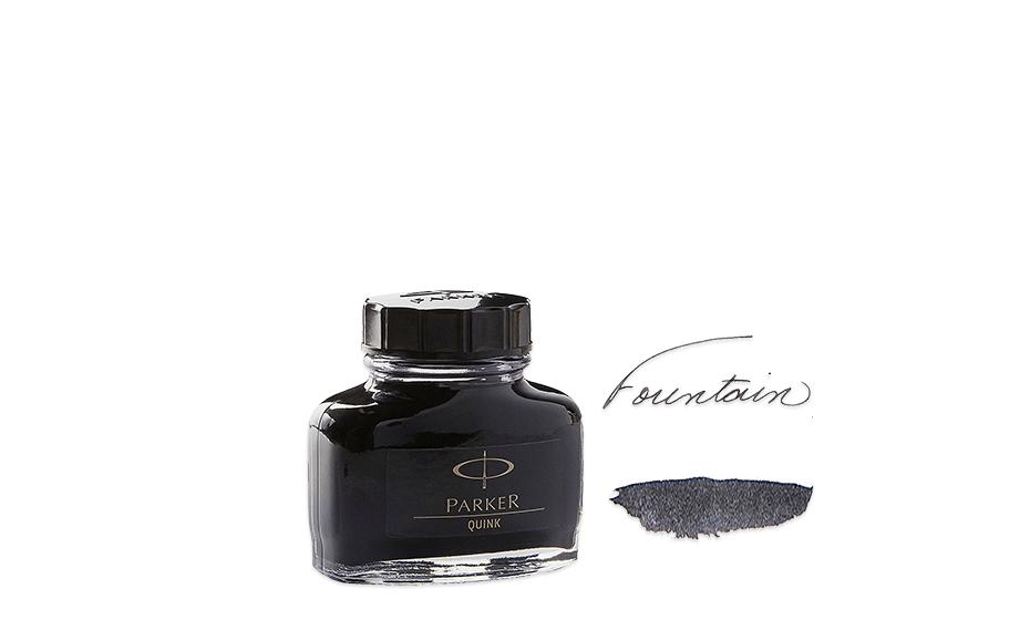 Чернила Parker Bottle Quink, для перьевых ручек,черные  1950375 3501179503752