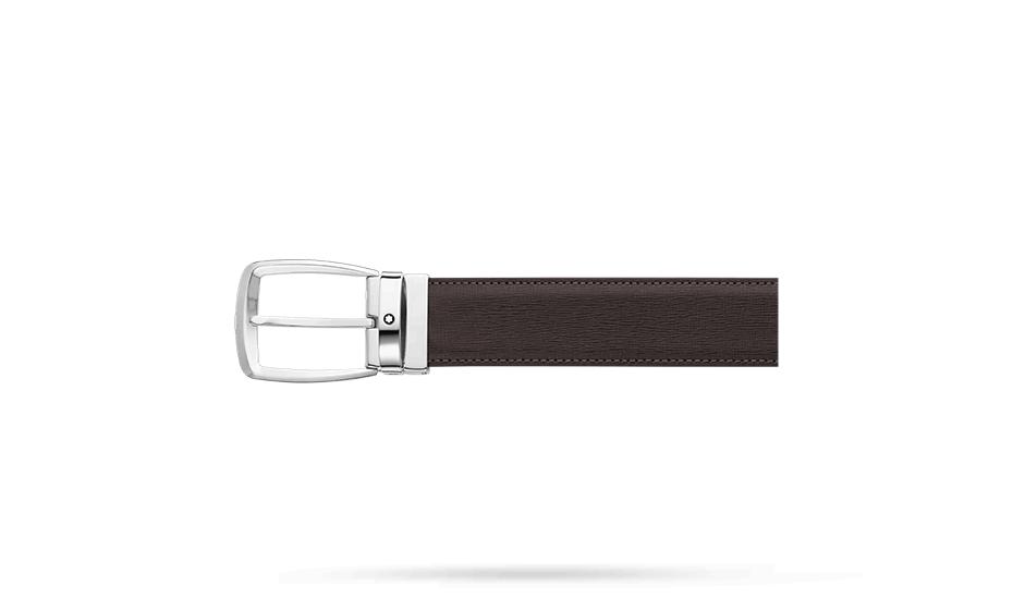 Ремень Montblanc Montblanc Classic, трапецевидная стальная пряжка,  114417