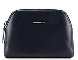 Косметичка Piquadro Piquadro, средняя, 18,5x12.5x5см, кожа, синяя  PBY3794B2/BLU2