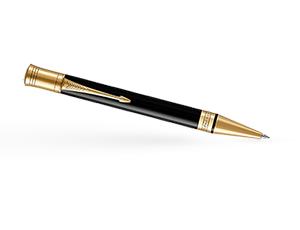 Шариковая ручка Parker Duofold, латунь, позолота, позолота, смола эпоксид  1931386