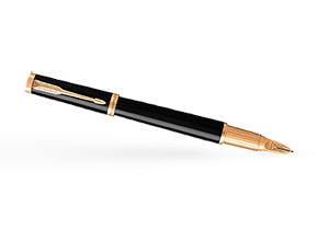 Шариковая ручка Parker Ingnty, лак, латунь, черный, позолота  1931462