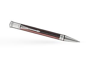 Шариковая ручка Parker Duofold Prestige Burgundy Chevron CT, латунь, нерж  1945419