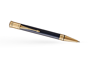 Шариковая ручка Parker Duofold Prestige Blue Chevron, лак, латунь, позоло  1931373