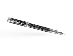 Перьевая ручка Parker Duofold Prestige Centennial, латунь, рутений, сера  1945413
