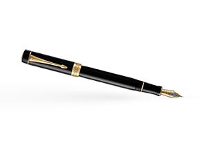 Перьевая ручка Parker Duofold, латунь, позолота, позолота, смола эпоксид  1931381