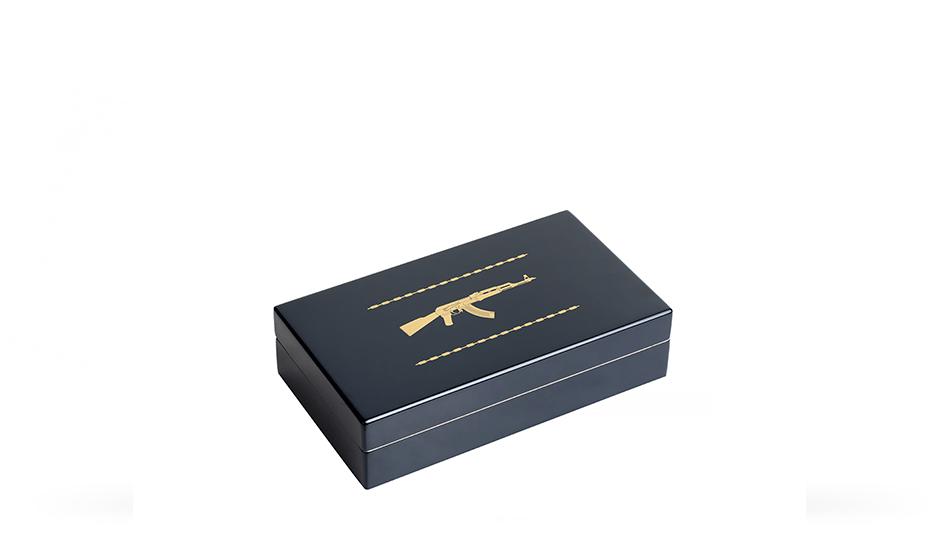 Чернильная ручка Gourji Русское оружие, черный акрил, серебристая эмаль, с  IFG0RRRW