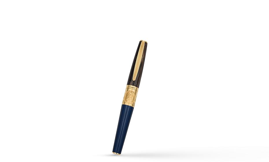 Чернильная ручка Gourji Честь, флот, Отечество, черная акриловая смола, го  IFG0RRVY