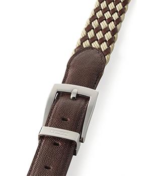 Ремень Dalvey Dalvey, плетение, кожа, текстиль, красно-коричневы  599