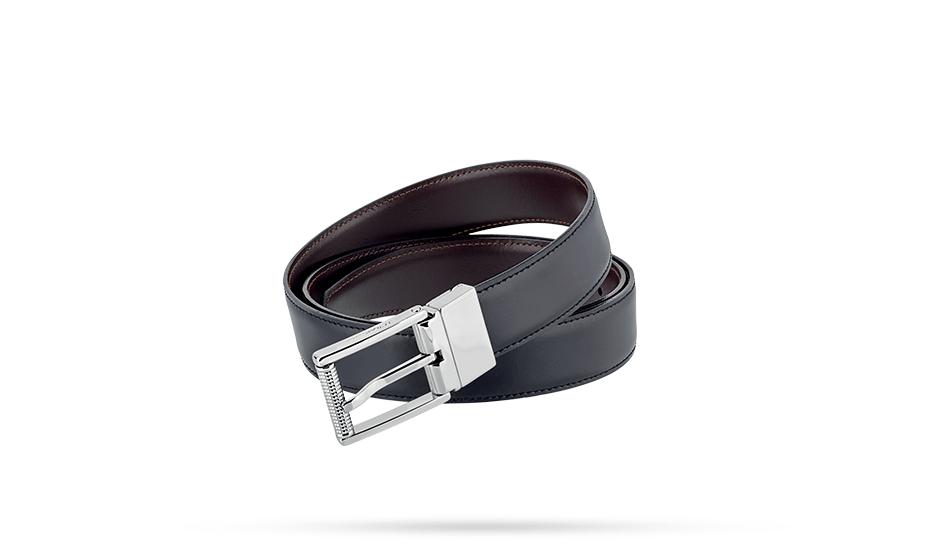 Ремень S.T. Dupont BUSINESS, кожа с тиснением, черно-коричневый  9550120