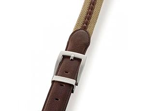 Ремень Dalvey Dalvey, кожа, текстиль, коричневый  595