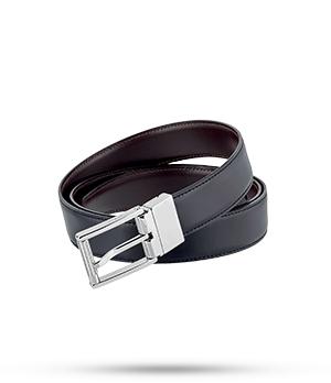 Ремень S.T. Dupont Line D Business, двусторонний, кожа, черный-темно-  9540120