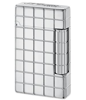 Зажигалка S.T. Dupont Initial, белая бронза, квадратный узор  20800