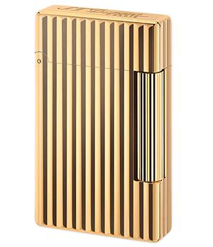 Зажигалка S.T. Dupont Initial, золотистая бронза, вертикальный узор  20803