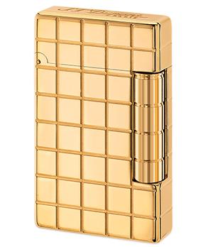 Зажигалка S.T. Dupont Initial, золотистая бронза, квадратный узор  20801