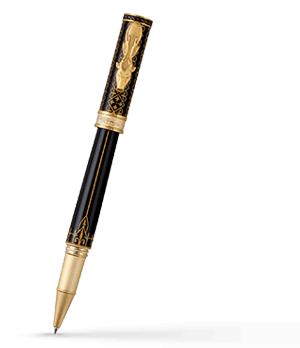 Чернильная ручка Montegrappa Игра Престолов Baratheon, черный лак, желтое золот  GAMOFTH-BAR-RB