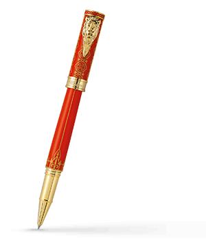 Чернильная ручка Montegrappa Игра Престолов Lannister, красный лак, желтое золо  GAMOFTH-LAN-RB