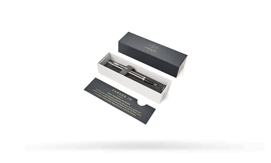 Шариковая ручка Parker IM Deep Black CT, черный лак, хром  1931671 3501179316710